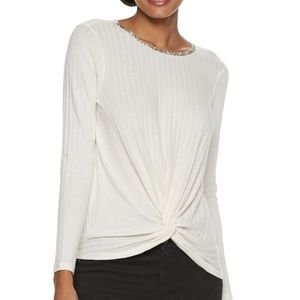 NWT Juicy Couture Ribbed Top Sz L